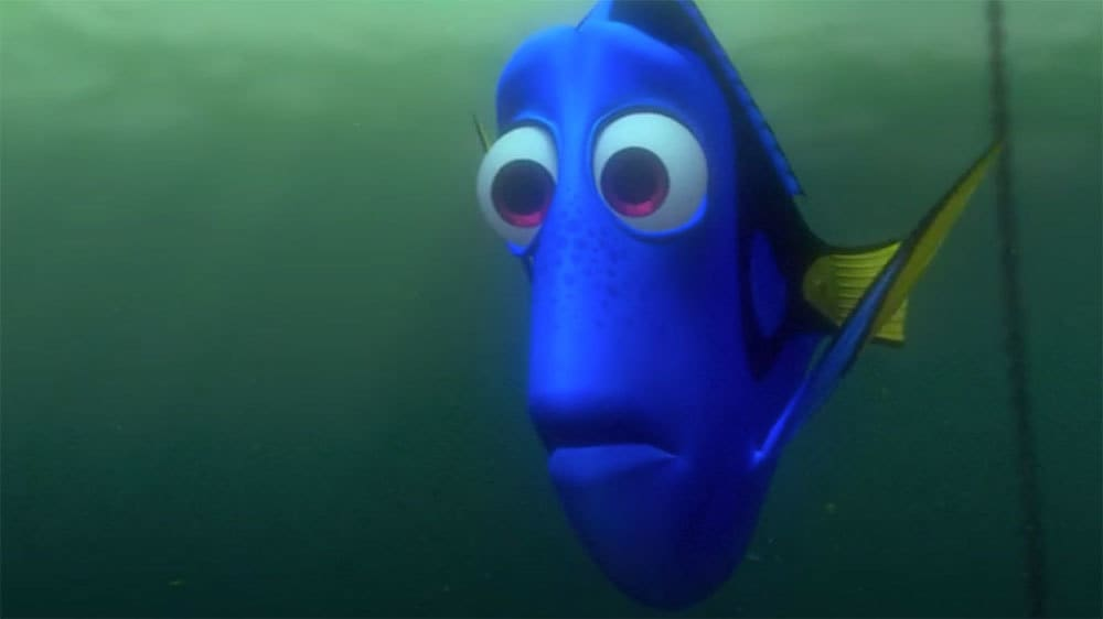 "Animated Character Dory (blue fish) from the movie ""Finding Nemo"""