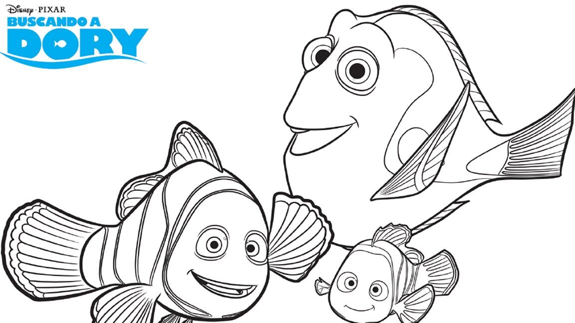 ¡Hora de pintar a Nemo, Dory y compañía!