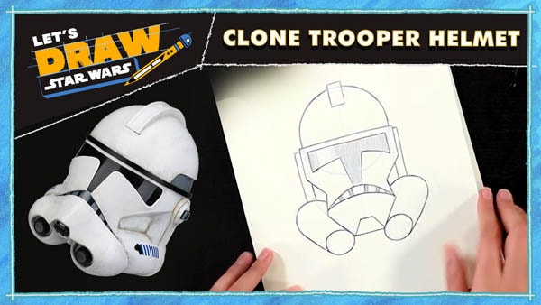 Let's Draw! Clone Trooper Helmet