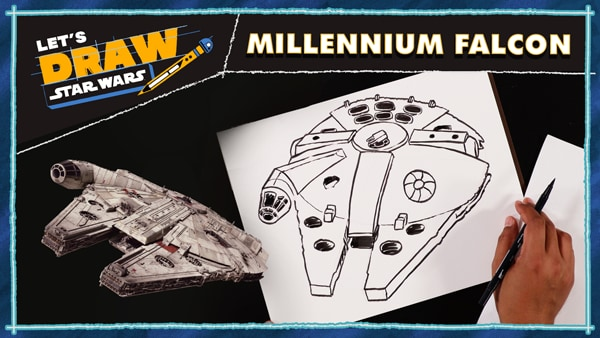 Let's Draw! Millennium Falcon