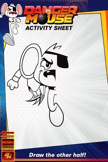 Draw Danger Mouse - Danger Mouse Activity Sheet