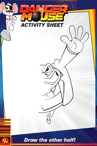 Draw Green Back - Danger Mouse Activity Sheet
