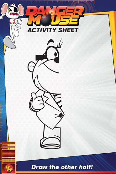 Draw Penfold - Danger Mouse Activity Sheet