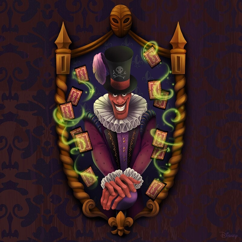 Portrait renaissance-inspired painting of Dr. Facilier