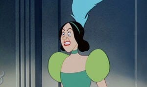 "Drizella in a green dress in the animated movie ""Cinderella"""