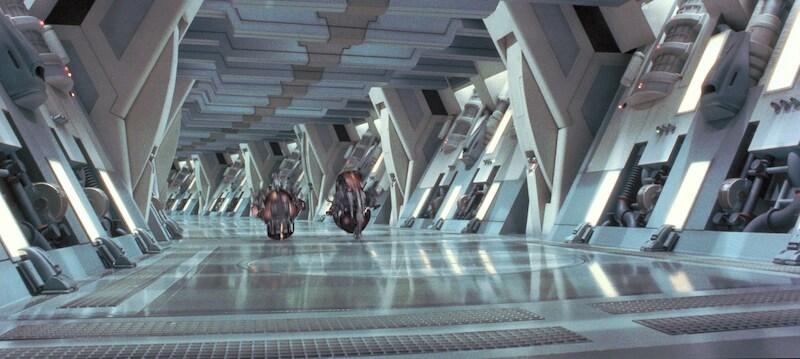 Droideka's aboard a Droid Control Ship