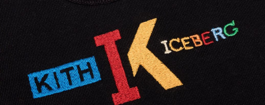 Logo work from the KITH X Iceberg Mickey Mouse Collection