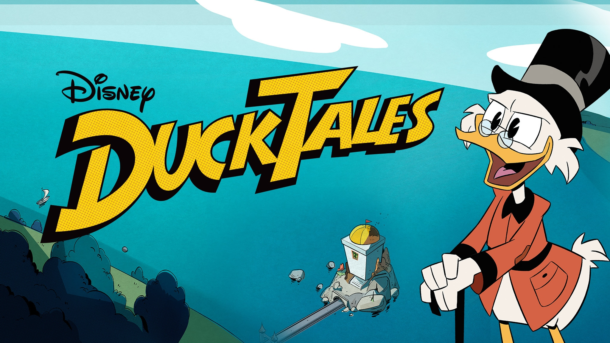 Disney's DuckTales poster with Scrooge McDuck