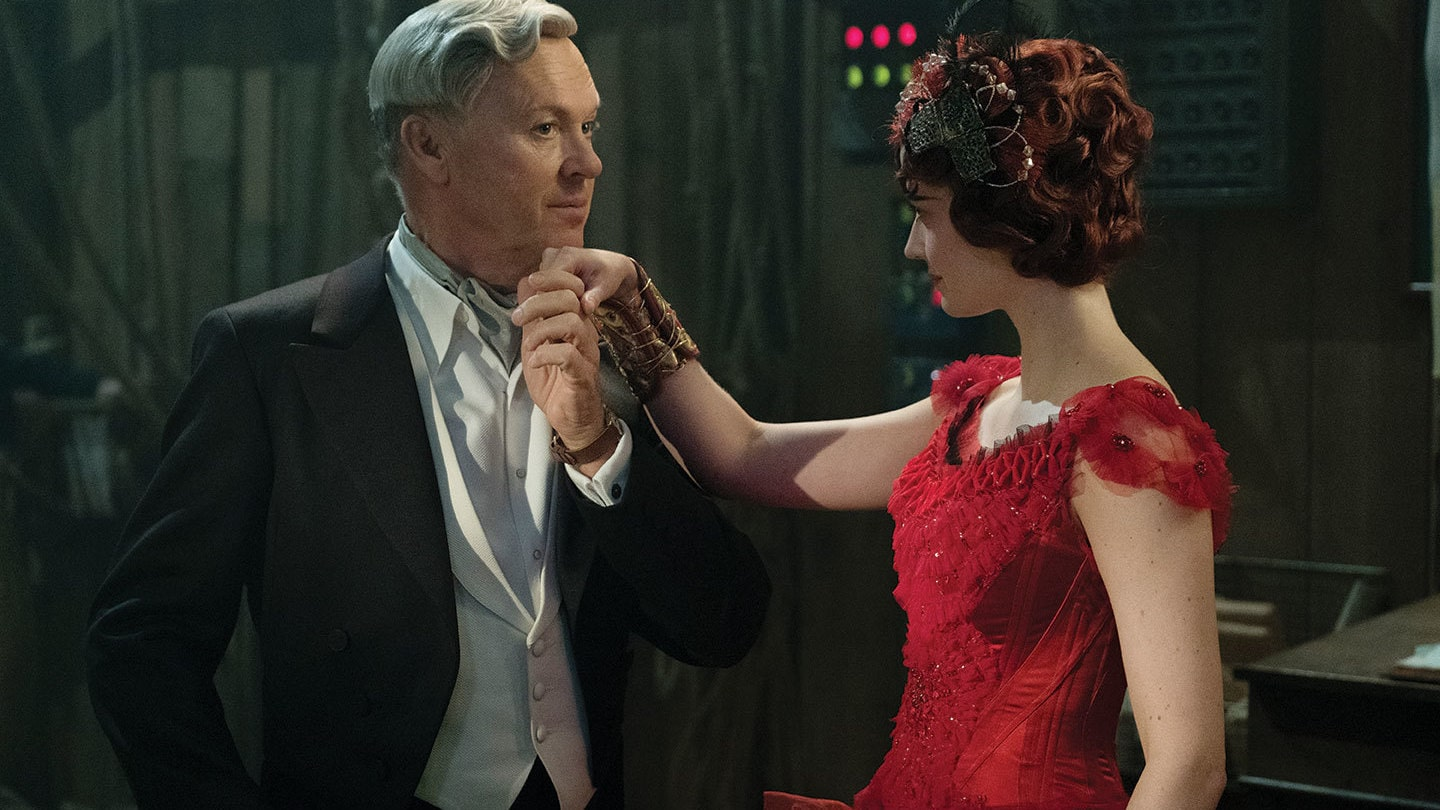 Michael Keaton and Eva Green in Dumbo