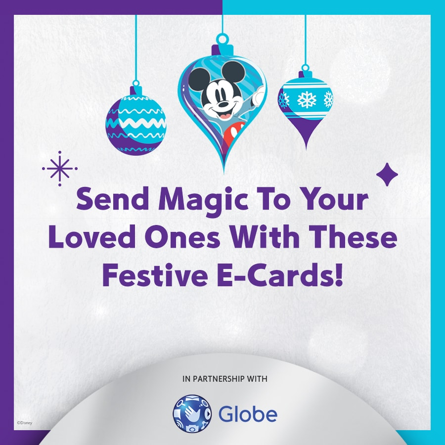 SEND MAGIC TO YOUR LOVED ONES WITH CUSTOMISABLE E-CARDS FEATURING YOUR FAVORITE CHARACTERS!