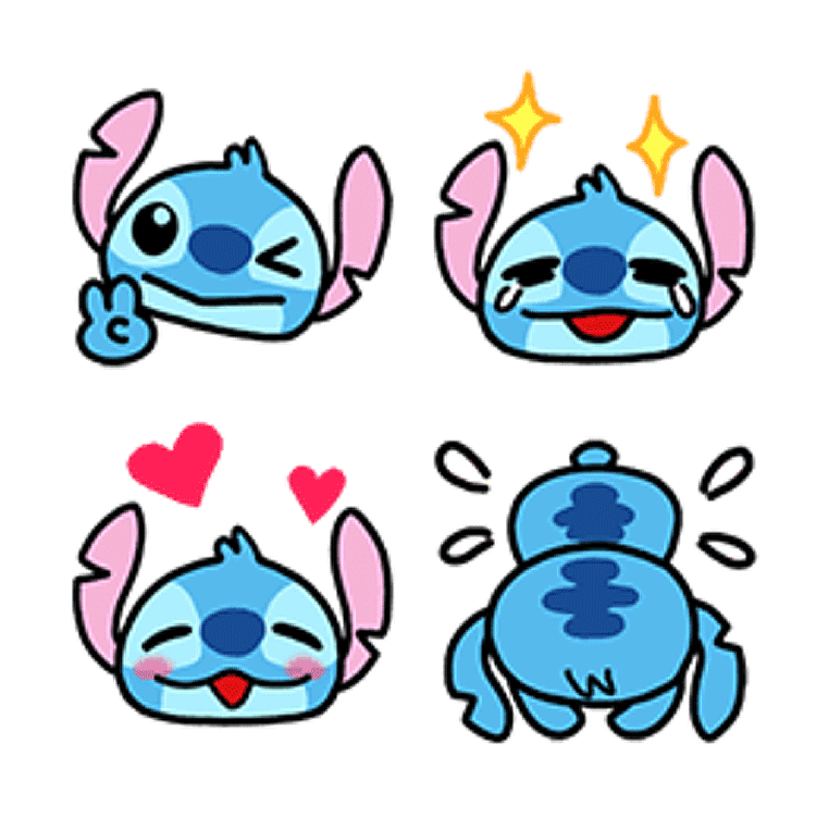 Stickers | Easygoing Stitch Emoji