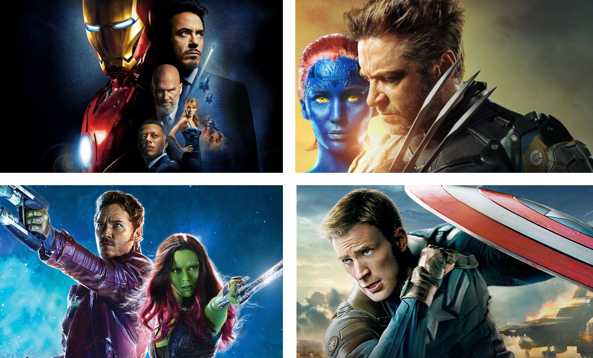 Fermi immagine da vari film Marvel