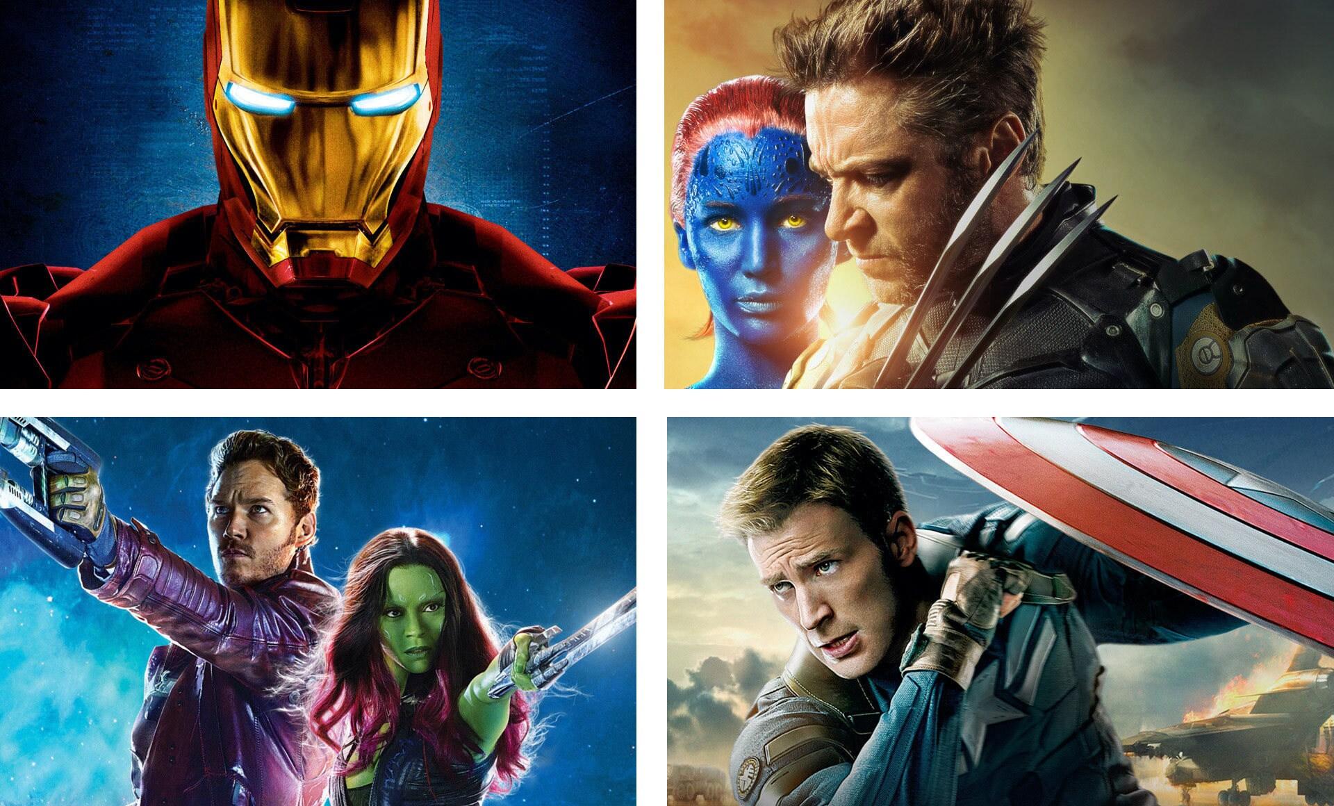 Produktionsfotos von verschiedenen Marvel-Filmen