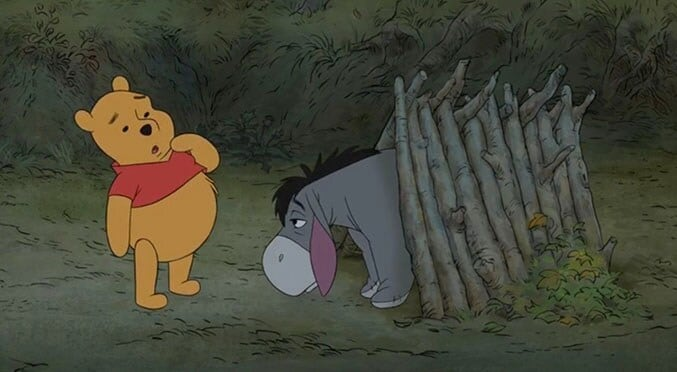 "Winnie the Pooh and Eeyore in ""Winnie the Pooh"""
