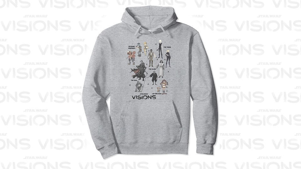 Star Wars Visions Textbook Character Poster Pullover Hoodie