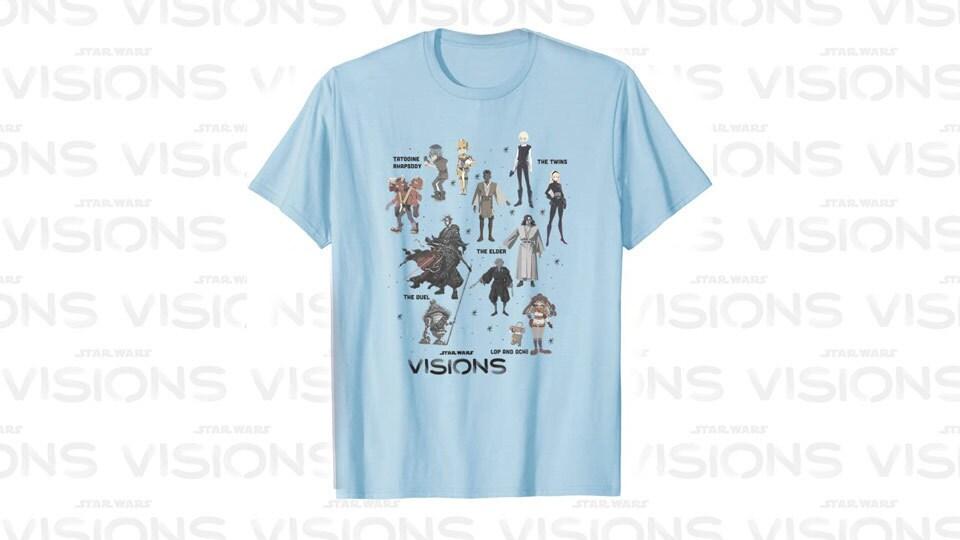 Star Wars Visions Textbook Character Poster T-Shirt