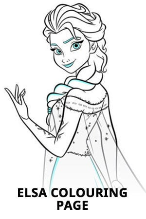 Frozen Elsa Colouring Page