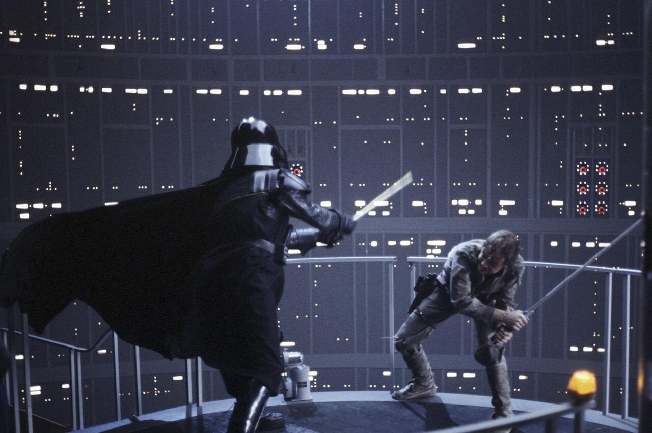 Embate entre Darth Vader e Luke Skywalker