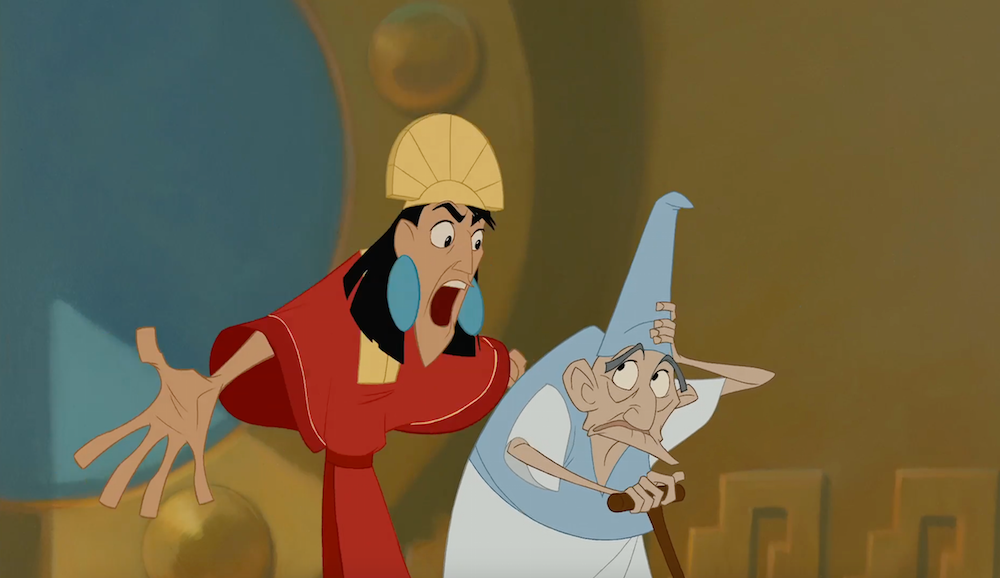 """Kuzco (voiced by actor David Spade) in the animated movie """"The Emperor's New Groove"""""""