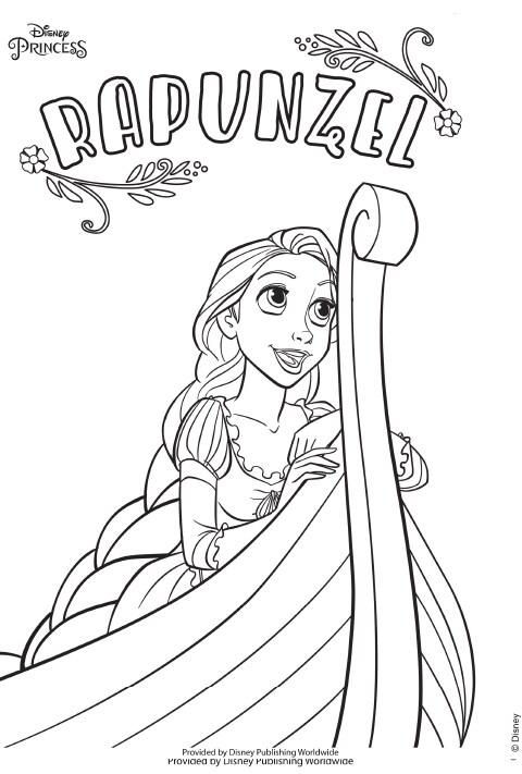 UK - Disney Princess - Rapunzel Colouring Sheet PDF