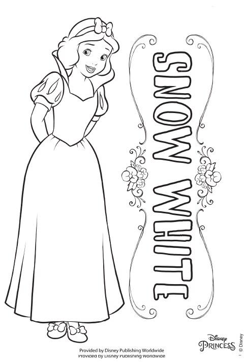 UK - Disney Princess - Snow White Colouring Sheet PDF