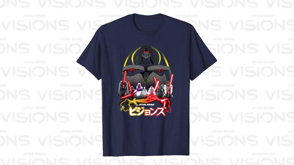 Star Wars Visions Villain Group Poster T-Shirt