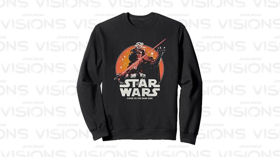 Star Wars Visions Darth Vader Dark Side Poster Sweatshirt