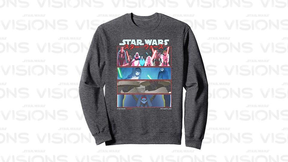 Star Wars Visions 9th Jedi Stacked Panels Sweatshirt