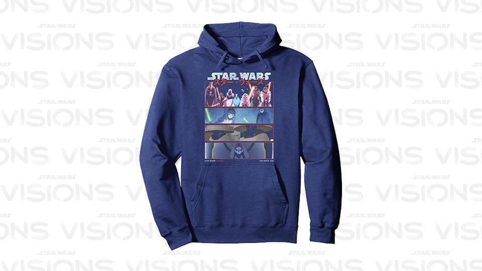 Star Wars Visions 9th Jedi Stacked Panels Pullover Hoodie