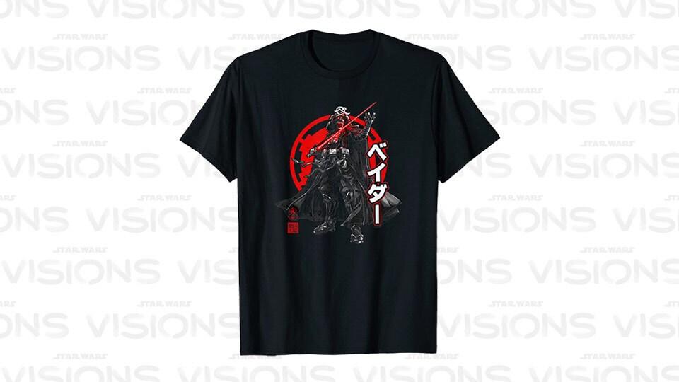 Star Wars Visions Darth Vader Kanji Poster T-Shirt
