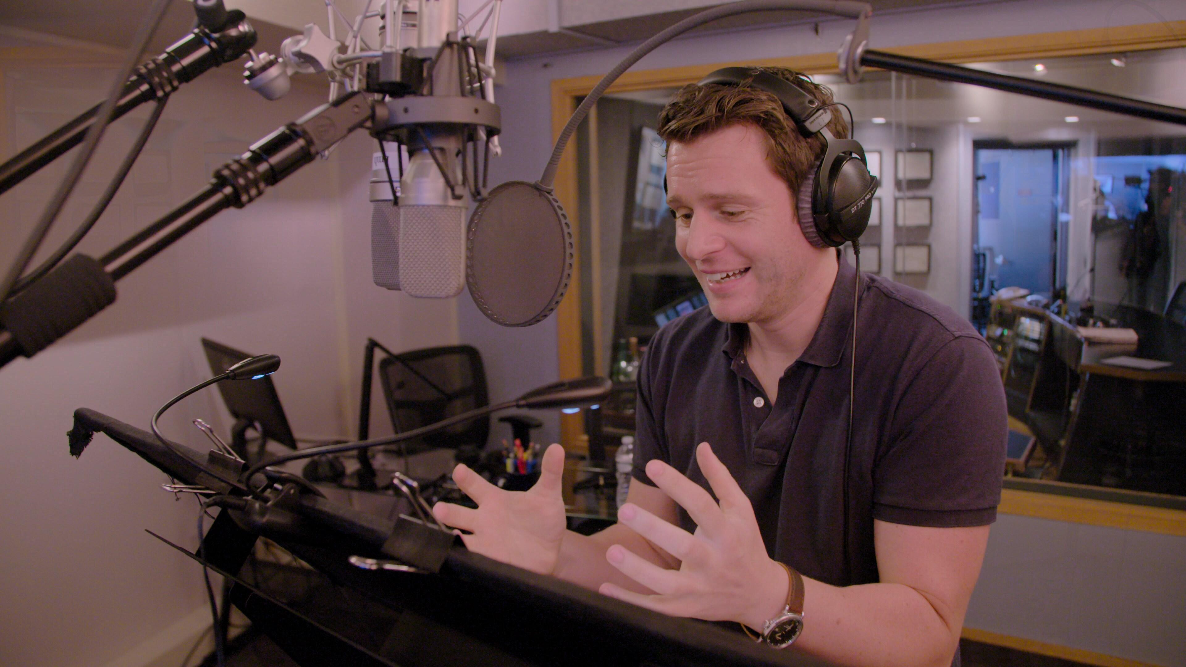 Jonathan Groff recording Frozen 2