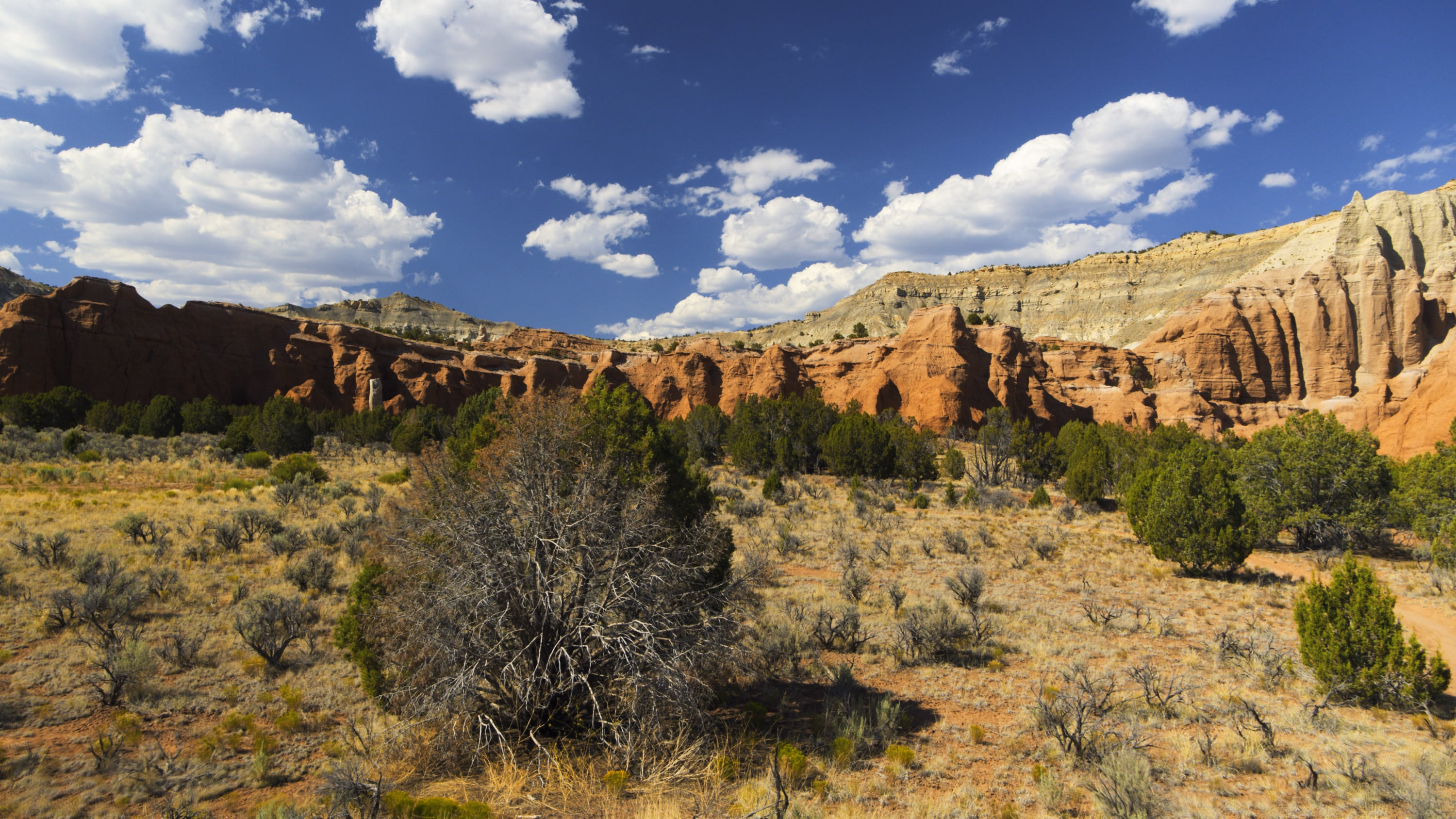 Flying toward a rock formation in the Kodachrome Basin State Park. (National Geographic for Disney+)