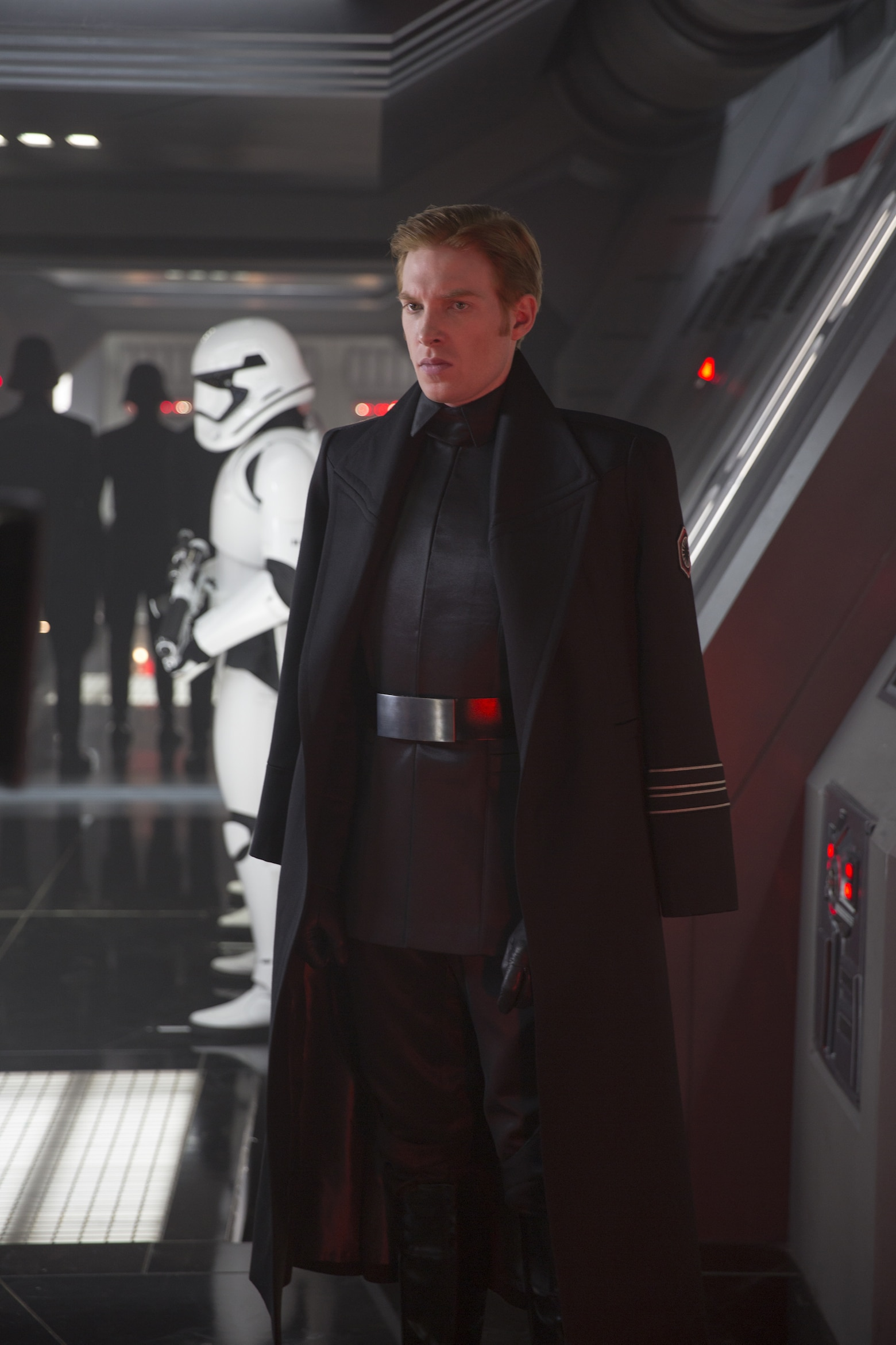 Domhnall Gleeson as General Hux on a First order base