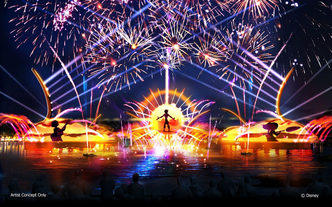 Upcoming Nighttime Spectacular at Epcot Concept Art