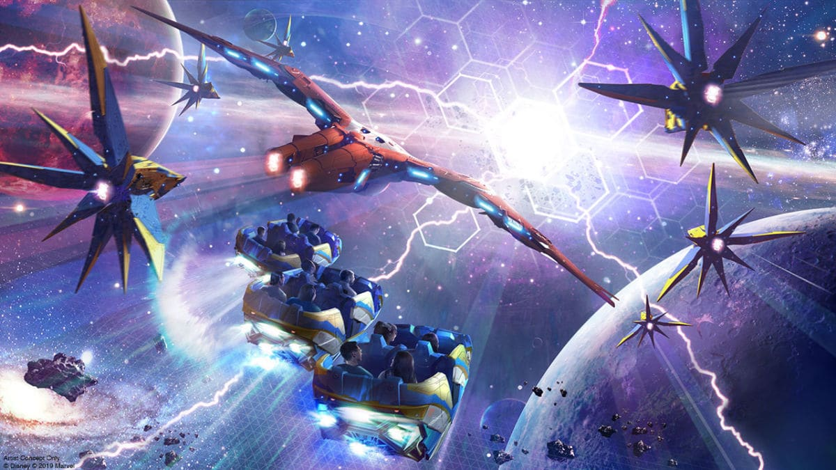 Guardians of the Galaxy: Cosmic Rewind attraction concept art