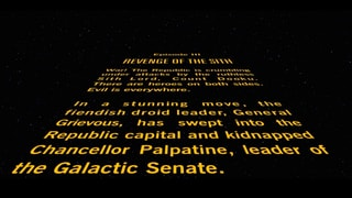 Star Wars: Episode III Revenge of the Sith - Opening Crawl