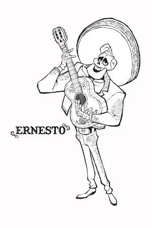 Coco - Ernesto - Coloring Page