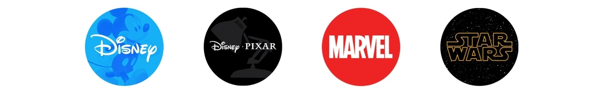 Nuestras marcas, Disney, Pixar, Marvel, Star Wars
