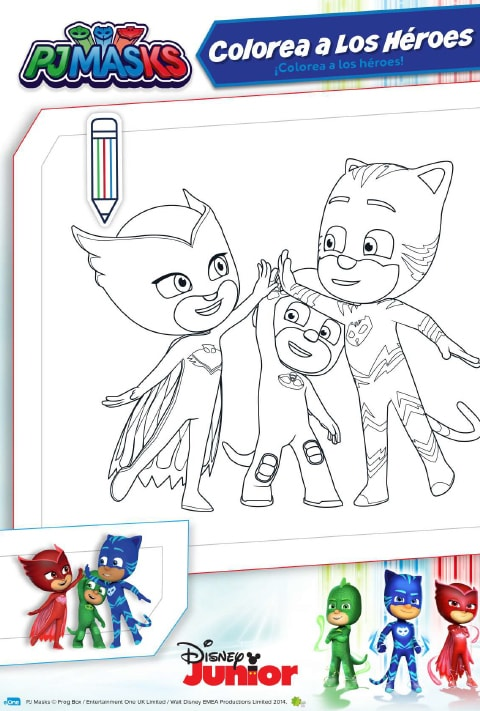 Coloreable -  PJ Masks