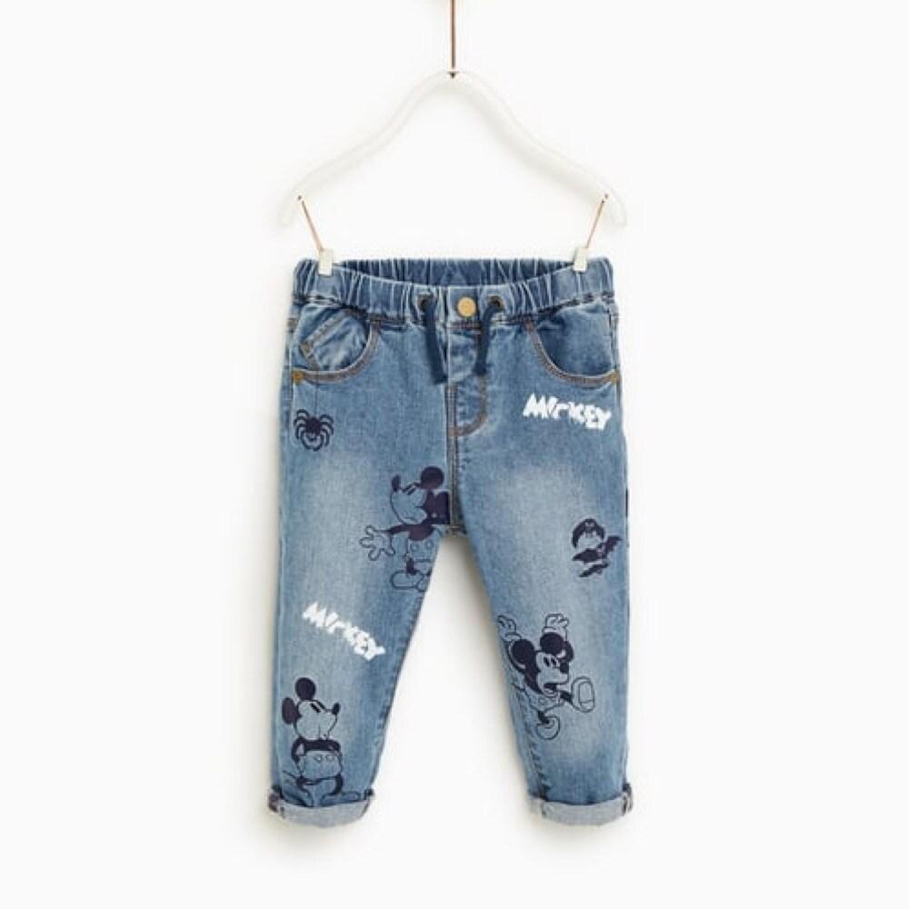 ZARA | Jeans Mickey bebé