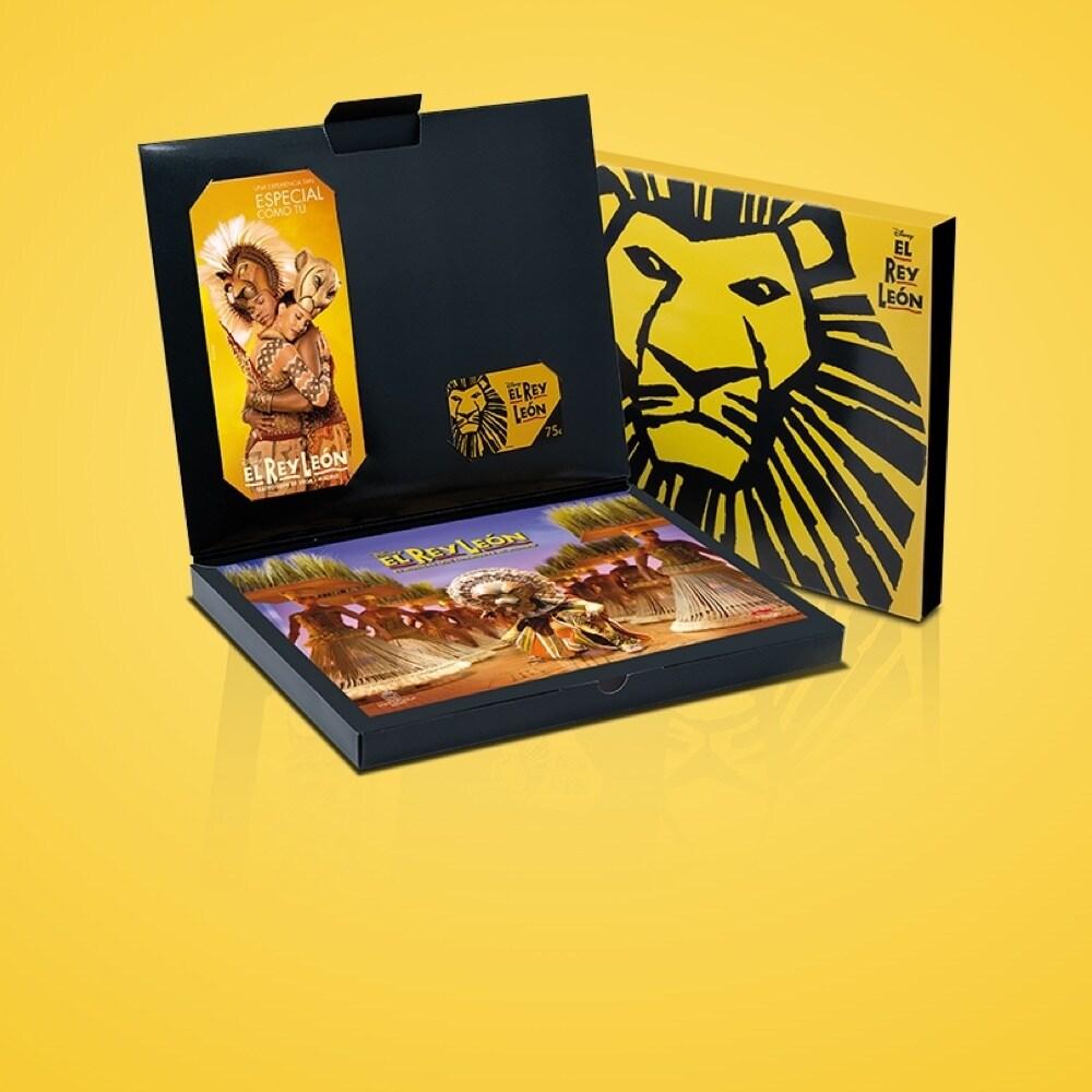 Tarjeta regalo del musical El Rey León