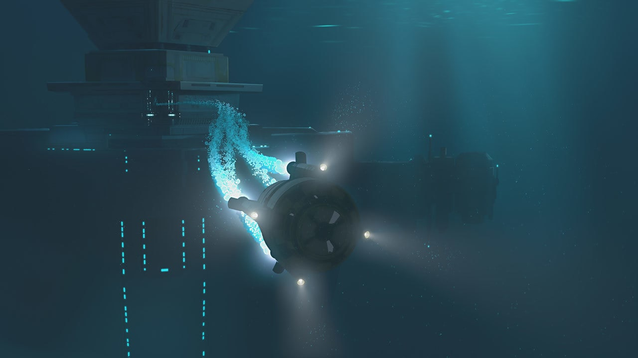 Underwater escape pods on Colossus platform