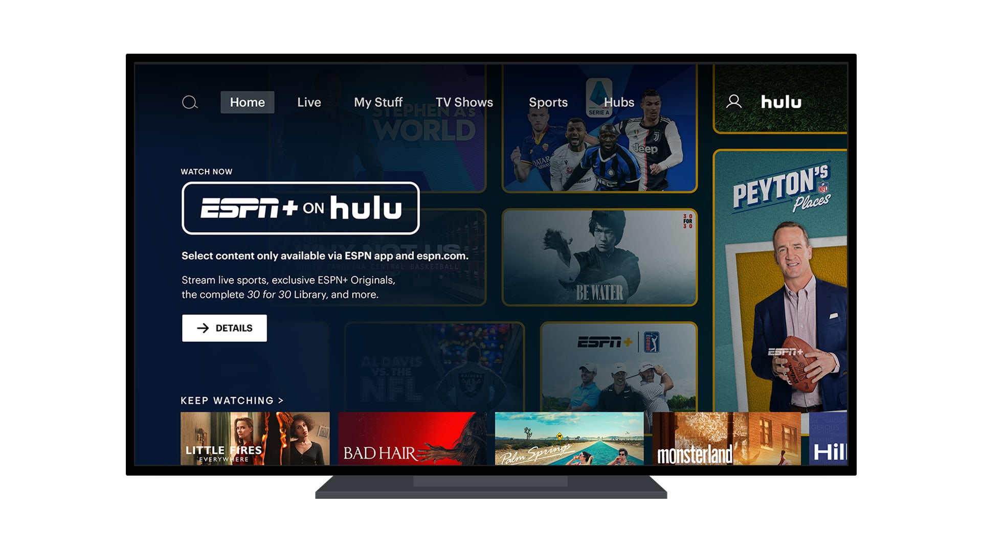 ESPN+ on Hulu Launches