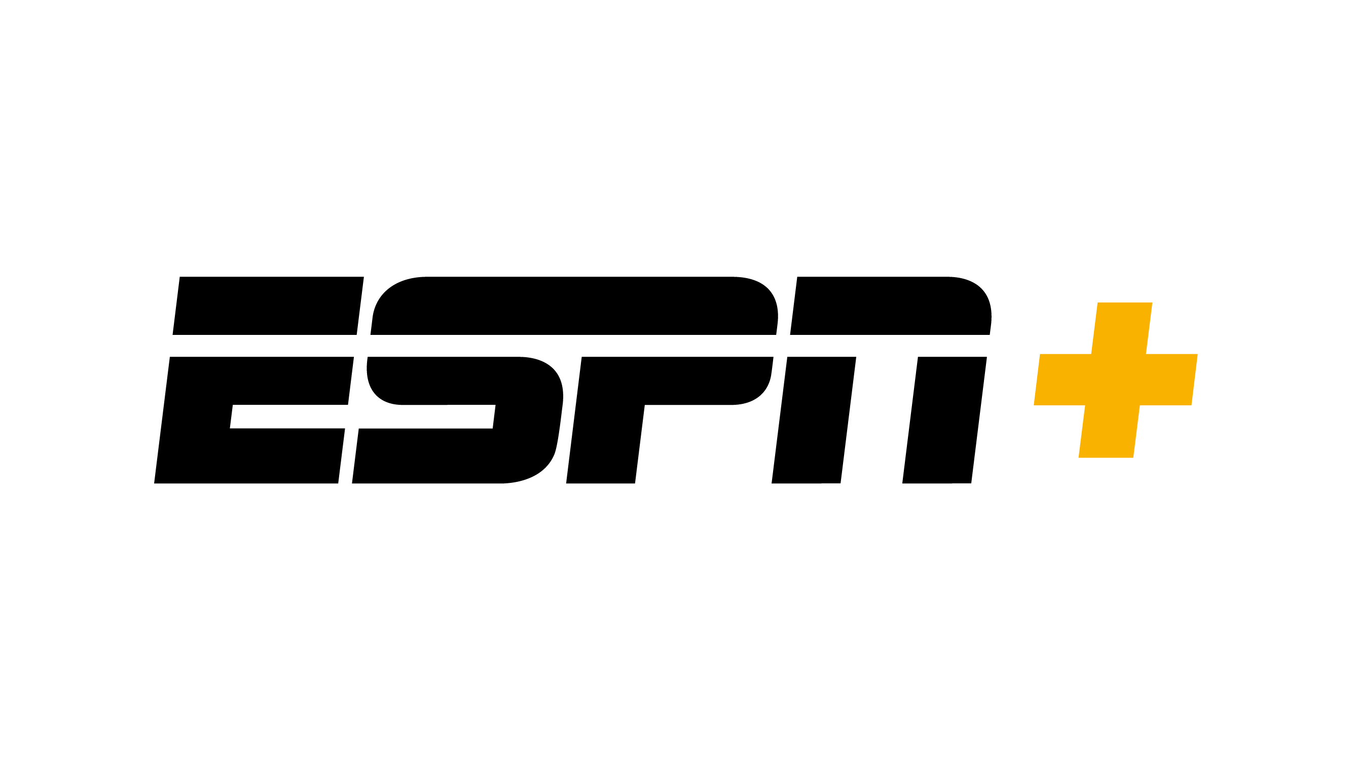 ESPN+ Logo (Black)