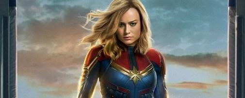 Captain Marvel in hangar