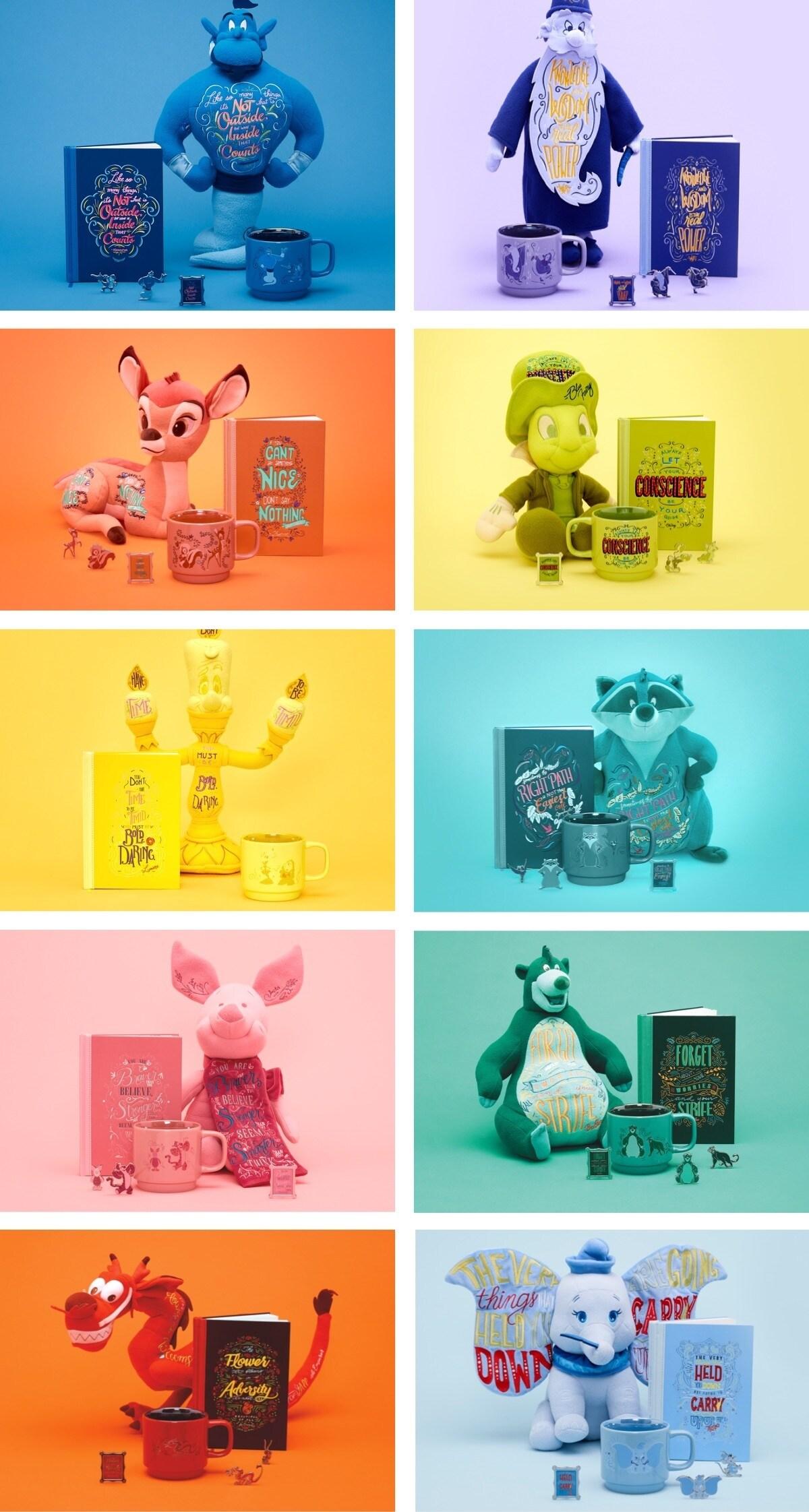 The Disney Wisdom Collection: Dumbo, Mushu, Baloo, Porcinet, Meeko, Lumiére et Jiminy Cricket