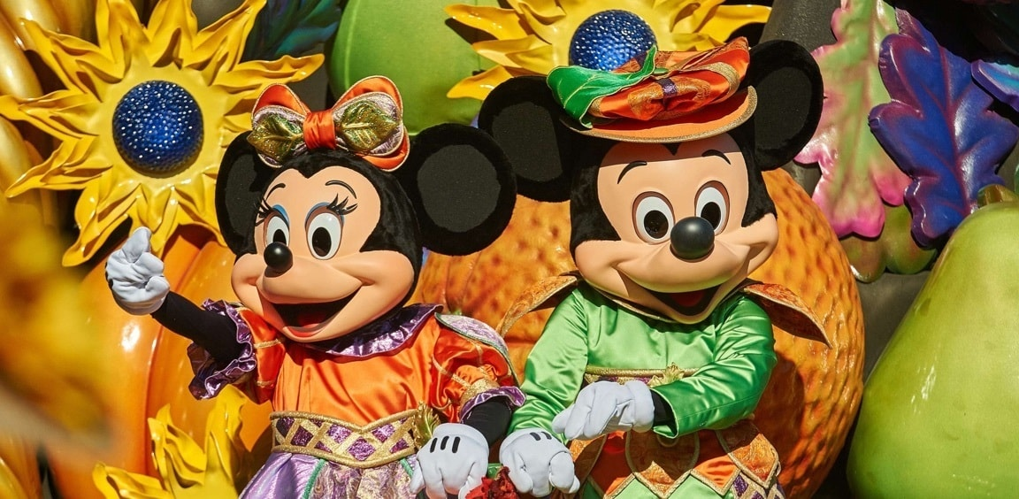 Mickey and Minnie at Mickey's Halloween Celebration at Disneyland® Paris