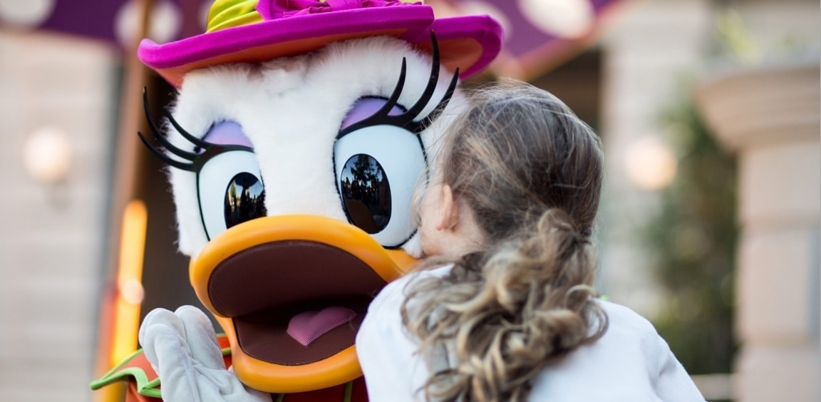 Daisy Duck and guest at Disneyland® Paris
