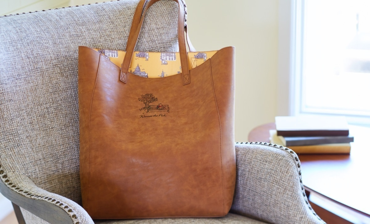 Winnie the Pooh leather tote bag