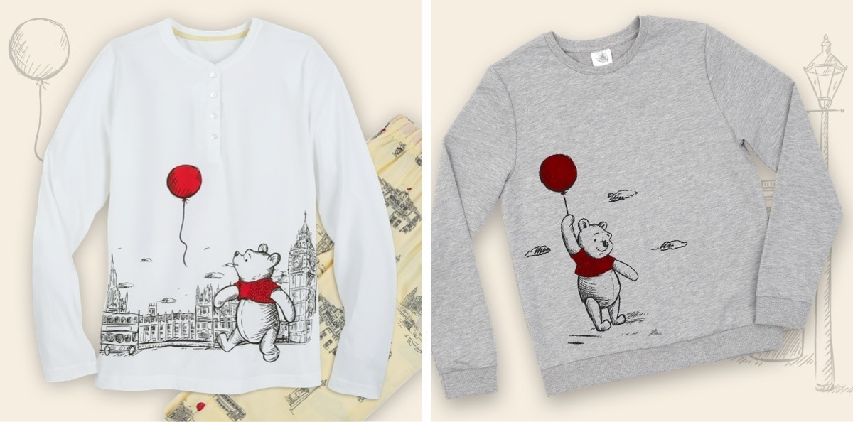 Winnie the Pooh jumpers and pyjamas